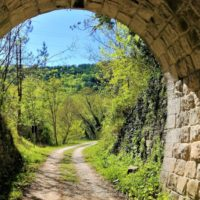 croatia bike tour - tunnel on parenzana istria cycling - Terra Magica Croatia - bike tours istria