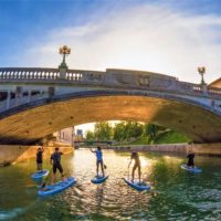 ljubljana slovenia sup stand up paddle - Terra Magica Croatia - stand up paddle boarding in istria