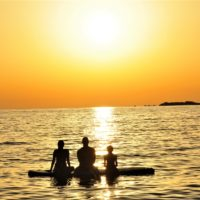 Sunset Stand Up Paddle boarding SUP in Porec - Terra Magica Croatia - stand up paddle boarding in istria
