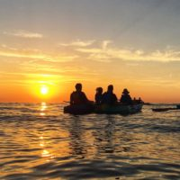kayaking Croatia - sunset sea kayaking porec istria croatia - Terra Magica Croatia - kayaking croatia