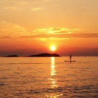 kayaking Croatia - sunset stand up paddle boarding istria croatia - Terra Magica Croatia - stand up paddle boarding in istria