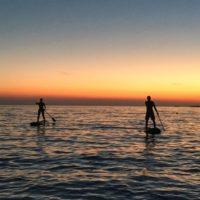 sunset stand up paddling in porec istria croatia with terra magica adventures - Terra Magica Croatia - stand up paddle boarding in istria