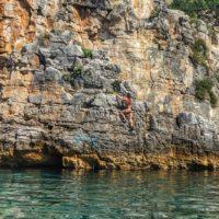rovinj croatia rock climbing deep water soloing - Terra Magica Croatia - climbing croatia
