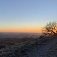 Sunset view while hiking in Istria
