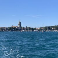 view sailing into the ancient port of osor on croatia sailing adventure